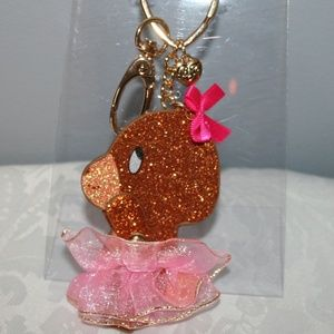 "BETSEY JOHNSON ""PINK BEAR"" KEY CHAIN"